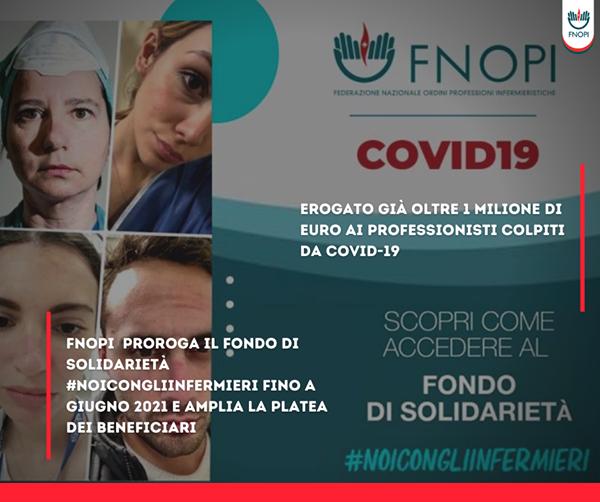 FNOPI proroga il fondo di solidarietà #NoiConGliInfermieri