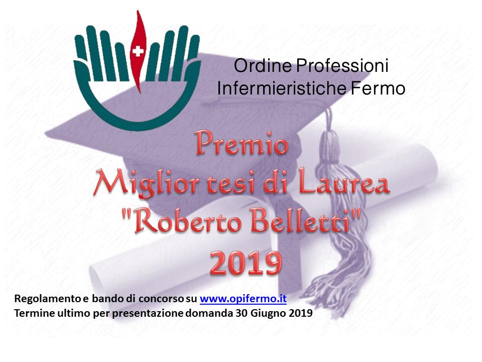 Bando miglior Tesi infermieristica 2019
